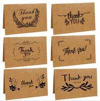 Wholesale Wholesale Greeting Cards Supplies - Vintage Brown Paper Kraft Paper Thank You Card Greeting Cards Wedding Party Festive Event Supplies 6 Styles OOA2748