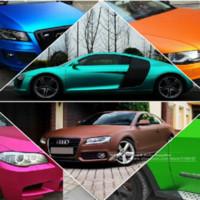 Wholesale Matte Chrome Vinyl Wrap - New 152*30CM Polymeric PVC Matte Chrome Vinyl Car Wraps Sticker Color Changing Car Sticker With Air Bubble Car Styling