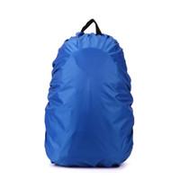 funda mochila ciclismo al por mayor-Cubierta impermeable de la lluvia para el viaje que acampa que camina al aire libre que monta en bicicleta la mochila de la escuela la bolsa del equipaje cubierta de la lluvia del polvo 5 colores WA0684