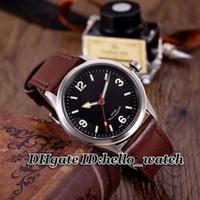 kahverengi saat kayışı siyah kadran toptan satış-Yeni İzle Heritage Ranger 79910-BKBB Siyah Kadran Mens Watch Otomatik 95760 Kahverengi Deri Kayış erkek En İyi Saatler Spor Gents Saatı