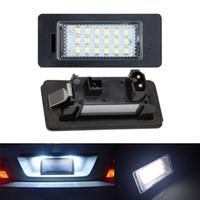 ingrosso bmw ha condotto le lampadine-2 pz 18 LED errore gratuito numero di targa automobilistica lampadine lampada adatta per BMW E90 M3 E92 E70 E39 F30 E60 E93 E82 E88 F20 F21