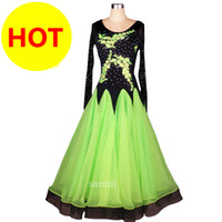 Wholesale New Release Dress - On Sale New Released Women Ballroom Dancing Dress Ballroom Waltz Dance Dress Women Flamenco Dresses Green CADB032