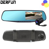 Wholesale Dual Camera Car Hd - Full HD Dash Camera 1080P 170 Degree Wide-angle Car dvr 4.3 Inch Rearview Mirror Digital Video Recorder