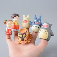 Wholesale Wholesale Mini Anime - TOTORO Action Figure Kids Toys Japanese Studio Ghibli Miyazaki Hayao Anime PVC Mini Set Finger Puppets Toy Figuras Children doll
