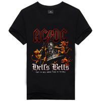 Wholesale Dc Tshirt - 6 New Fashion Men's Cool 3d Gun Print AC&DC Cotton Brand T Shirt Men 3D Tshirt Clothes Causul T-Shirts