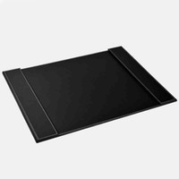 Wholesale Desk Writing Board - Wholesale-(2 Pieces Lot) Good Quality Leather Office Desk 60*45CM File Paper Clip Drawing & Writing Board Tablet Brown And Black Mix