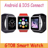 2016 Venta caliente GT08 reloj inteligente Bluetooth Wearable Android IOS reloj con ranura para tarjeta SIM Multifunción Smart Watch