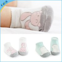Wholesale Socks Antislip Baby - In stock baby girls boys animal rabbit bear design 0-4T fancy kids antislip booties luxury socks