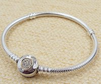 Wholesale Sterling Silver European Style Beads - 925 Sterling Silver & 14K Real Gold Bracelet with P Signature Clasp for European Style Charms and Beads