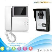 "Wholesale Intercom W Screen - Hand held wall mount digital 4.3"" colorful doorbell screen monitor with IR night vision HD waterproof outdoor camera intercom"