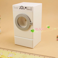 Wholesale toy washer online - G05 X0050 children baby gift Toy Dollhouse mini Furniture Miniature baby wooden white color Washer