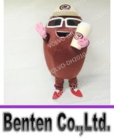 Wholesale Coffee Bean Halloween Costume - VO312 Professional Customized Coffee Bean Mascot Costume Costumes Clothing Halloween Costume Chirstmas Party Adult Size Fancy Dress Cloth