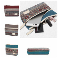 Wholesale Wholesale Womens Bags Purses - Canvasartis Womens Canvas Retro Floral Small Change Coin Purse Clutches Bag Female Key Card Pouch Money Coin Holder Bags KKA3216
