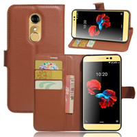 Wholesale Covers For Zte Leather - For ZTE blade A910 Litchi Pattern PU Leather Wallet Stand Case Cover with Card Slot