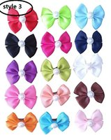 HOT SALE 4.5CM Bowknot ordinaire French Barrette Pet Chien Cheveux Bows Clips Puppy Cat Grooming Accessoires cheveux 100pcs /
