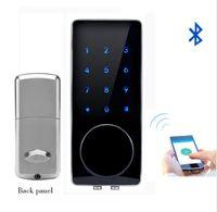 Wholesale Apartment Door Phone - Hot Bluetooth Lock Smart Electronic Door Lock APP, Code, Deadbolt For Home, Hotel ,Apartment Free Shipping