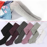 Wholesale kids pantyhose - Baby Leggings Kids Cotton Pantyhose Girls's Fashion Tights Toddler Autumn Stockings Spring Princess Pants Pantyhose Pant Sock KKA2409
