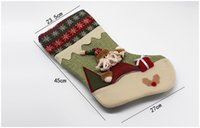 Wholesale Wholesale I Love Haters Products - Christmas stockings decorative Christmas, Santa Claus, Christmas stockings boots Christmas products Christmas stocking Christmas stockings