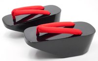 Wholesale Wooden Heel Platforms - Wholesale- Women Lady Wooden Clogs High Heel 8CM Platform Japanese Geta Sandals Flip Flops Slippers Cosplay
