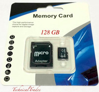 Wholesale Memory Card Retail - Dropship ePacket USPS 128GB 200GB SDXC C10 Micro SD Memory TF Card Class 10 With Adapter 128G MicroSD SDHC Generic Blister Retail Package