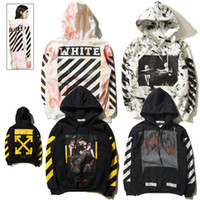 Wholesale Hoodie Sweatshirts Pullover Women - OFF WHITE C O Hoodies Men Women Brand Clothing Religious Outerwear Coats Hip Hop Skateboard PALACE Male Hooded Sweatshirts 2017