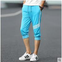 Wholesale Harem Pants Dark Red - Wholesale-#3715 Capri pants men Thin trousers Summer 2016 Casual sweatpants 3XL Jogger pants Pantalones hombre Harem pants men 6 color