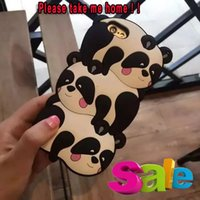 3D Panda Silicone GEL Soft Case Urso de pelúcia dos desenhos animados Cute Lovely Animal Jelly Para Iphone 6 6S Plus 4.7 5,5 I6S SE 5 5S pele telefone celular Moda