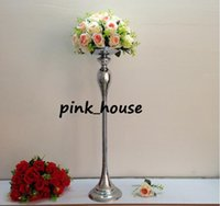 Wholesale Cheap Metal Stands - new product elegant cheap flower ball holder wedding road lead wedding centerpiece metal stand high tall T stage decoration