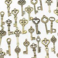 Wholesale Small Vintage Bronze Charms - Wholesale-40pcs Mixed small Keys charms Vintage bronze Metal Zinc Alloy Fine Trendy Mixed Pendant Charms Making D1089