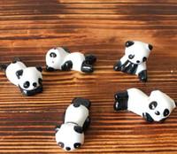 ingrosso bottiglie dipinte a mano-Bacchette di panda di ceramica Stand Holder Porcelain Stand Holder Porcelain Spoon Knife Rest Rack Ristorante Table Desk Decor Spedizione gratuita
