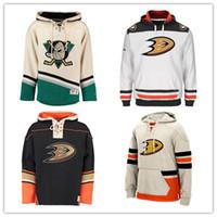 Wholesale Paul Hoodies - Customized Anaheim Ducks Hockey Jerseys Uniforms Teemu Selanne 9 paul kariya 10 corey perry Men Women Kids Hoodie Hooded Sweatshirt Jackets