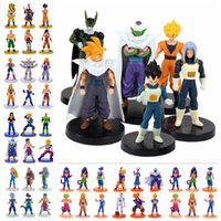 8 stili Dragon Ball Z in PVC Action Figure Set DBZ Giocattoli 6pcs / set Goku Vegeta Super Saiyan Anime modello Doll regali di compleanno