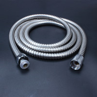 Wholesale Flexible Metal Pipes - 2m Flexible Stainless Steel Chrome Standard Hose Shower Head Bathroom Hose Water Hoses Pipe New Brand Popular