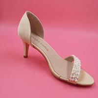 imágenes de sandalia al por mayor-Zapatos elegantes de la boda de la gota Sandal Open Toe 2015 5 cm del talón fino de la boda del tobillo de la correa del partido zapatos de baile envuelto talón hecho a mano imagen real