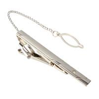 Wholesale Tie Clip Prices - Newest Best Price Men Fashion Metal Silver Tone Simple Necktie Tie Bar Clasp Clip Practical Clothing Accessories Decor