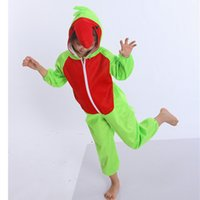 Wholesale Parrot Halloween Costume - Parrot Costumes For Kids Plush One piece Rompers Children Cartoon Animal Cosplay Role Play Stage Performance Halloween Christmas Party