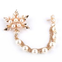 Wholesale China Girls Wear - Imitation Any shape wear Linear Chain tassel Edelweiss a lot of pearls Brooches lotus flower Brooch pins snowflake Corsage Thorn girl xz023