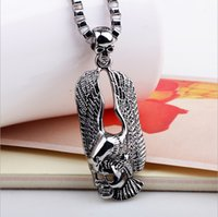 Wholesale Skeleton Necklaces - 2016 new hot Eagle Stainless Steel Pendant Necklace Pendant simple jewelry wholesale