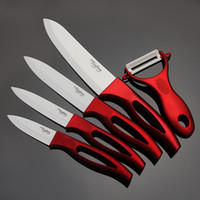 """Wholesale Ceramic Knife Set Red - High quality 3"""" 4"""" 5"""" 6"""" inch brand Paring Fruit Utility Chef Kitchen Ceramic Knife Sets+ free shipping"""