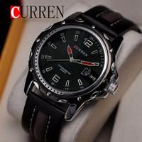 Wholesale Curren Leather - soport watch Curren 8104 brand Relogio Masculino Fashion Analog Display Orologio Uomo Quartz-Watch Curren Male Watch Leather Watch Men
