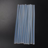 10 unids 7mmx190mm Claro Pegamento Adhesivo Sticks Para Hot Melt Gun Car Audio Craft transparente Para Accesorios de Aleación