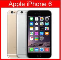 ios mobiltelefon großhandel-Refurbished Original Apple iPhone 6 Unterstützung Fingerabdruck Handy 4,7 Zoll ROM 16 GB A8 IOS 8.0 FDD Unlocked renoviert Handy