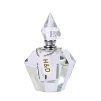 Wholesale Deluxe Atomizer - Wholesale- Mini 4ml Vintage Glass Transparent Perfume Bottle Atomizer Deluxe Travel Refillable Gifts