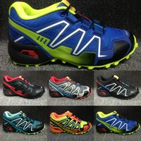 Wholesale Camouflage Kids Shoes - Kids Athletic Shoes Speed Cross 3 CS Cross-Country Hiking Shoes Children Running Shoes Non-Slip Soles Camouflage Sports Sneaker Size 30-35