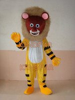 Wholesale Tiger Mascot Outfit - Wholesale-PROFESSIONAL Tiger MASCOT CHARACTER COSTUME Adult Fancy Dress Cartoon Party Outfits Free Shipping