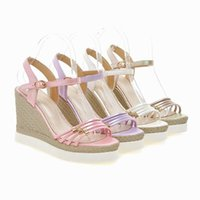 Wholesale Cheap White Platform Sandals - Free Shipping 2016 new summer design girls sandals womens casual shoes and sandals thick platform strips comfortable ladies cheap sandal C27