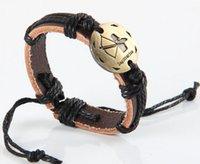 любовники гороскопа оптовых-Бесконечность браслет 12 гороскоп ткать браслеты очарование плетеный любителей браслеты ювелирные изделия повседневная регулируемая Wrap подарки смешанные 1 шт. каждый лот