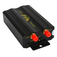 Wholesale automotive antennas - Car GPS Locator TK103A TK103 Quadband Vehicle Car GPS GSM Tracker Real Time Free Online Platform Tracking Device