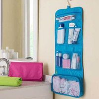 Atacado 3 cores Ladie da mulher Travel Toiletry Hanging Wash Cosméticos Maquiagem Case Portable Organizer Bags For Outdoor Camping free