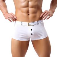 Wholesale Boxer Shorts Underwear Bulge - Wholesale-Modern Men Sexy Underwear Boxer Short U Convex Bulge Pouch Underpant SizeS,M,L Jan19